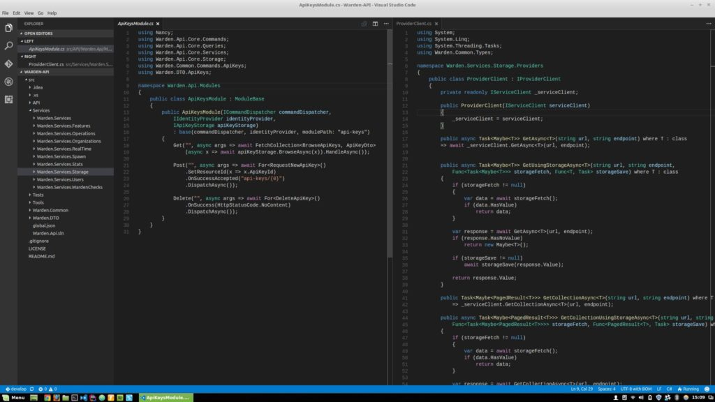 Visual Studio Code + OmniSharp is the way to go.