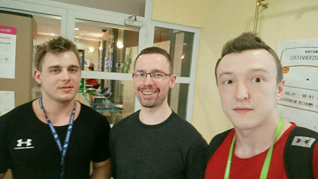 Me, Maciej Aniserowicz and Patryk Huzarski.