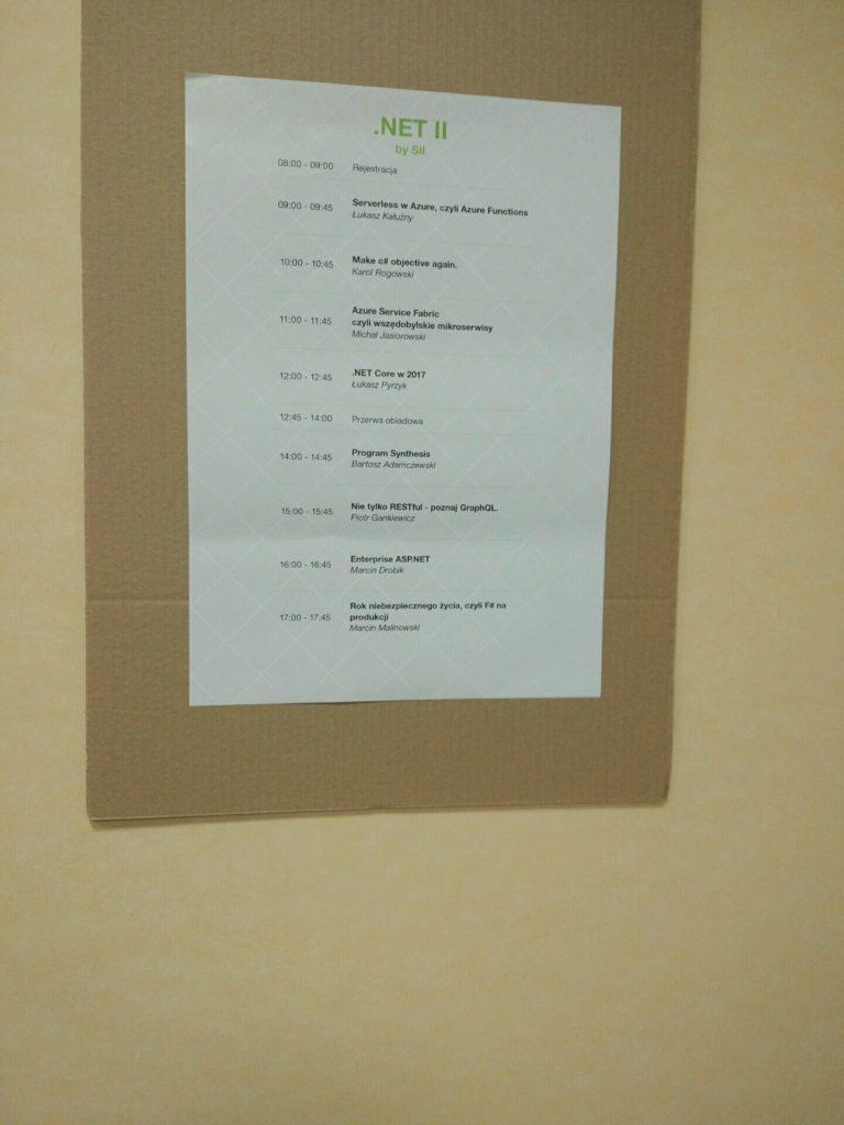 .NET Core II agenda.