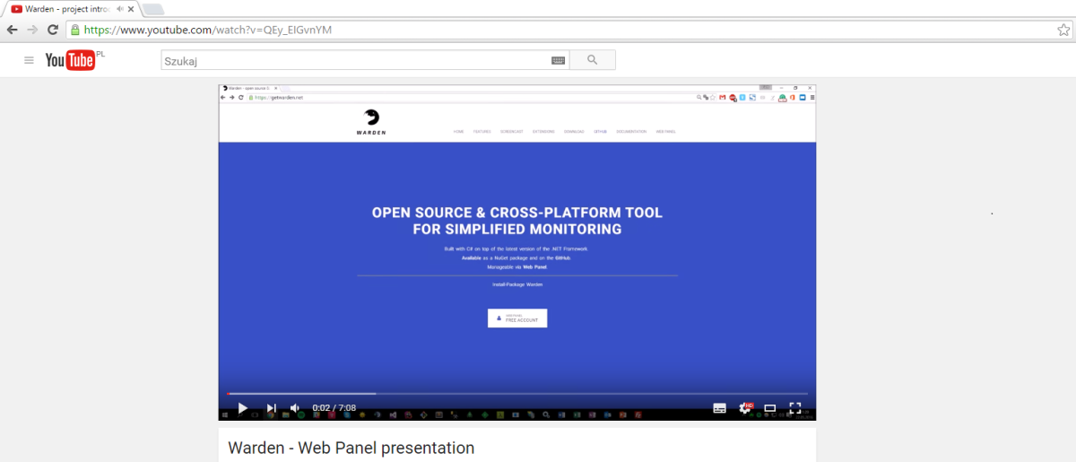 Warden screencast #2 – Web Panel