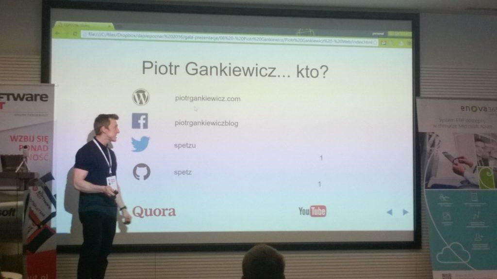 Daj Się Poznać 2016 - my presentation