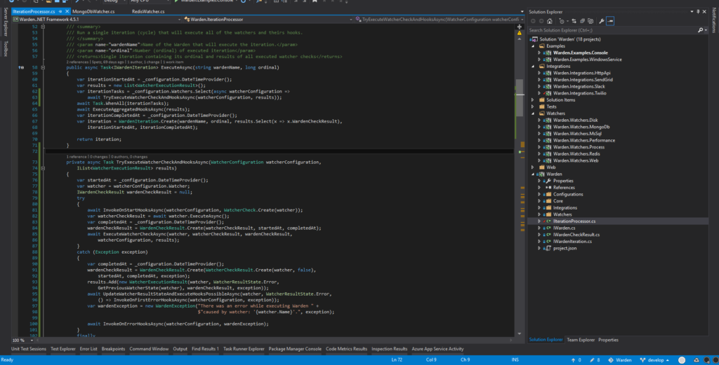 Refactoring Warden with NDepend