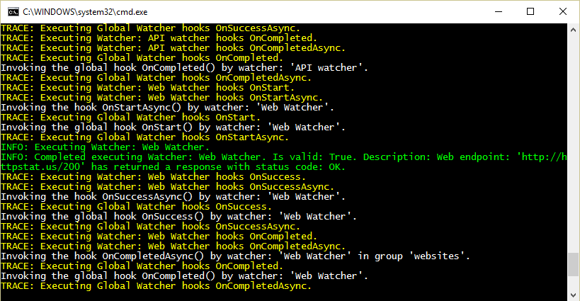 Warden Console Logger full of informative messages and meaningful colors.