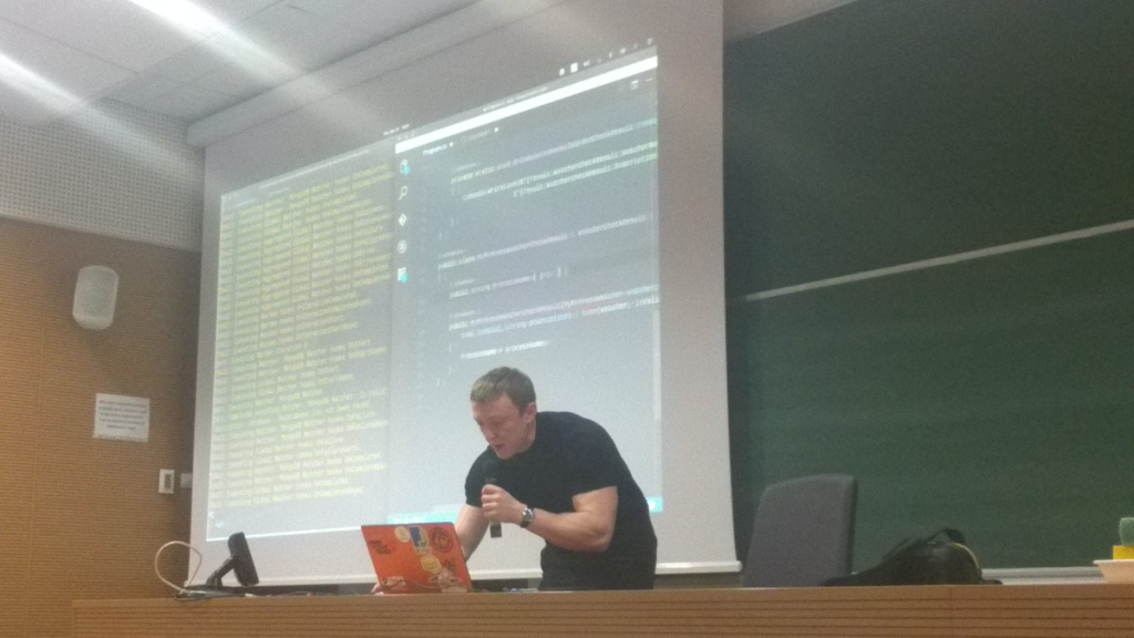 Giving a talk about Warden in Warsaw WG.NET group.