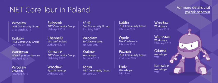 .NET Core Tour summary