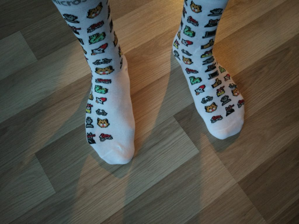 My favorite socks from Microsoft :).