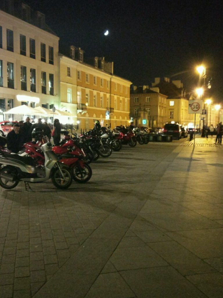 Night riders - I'd feel like home with so many bikes!